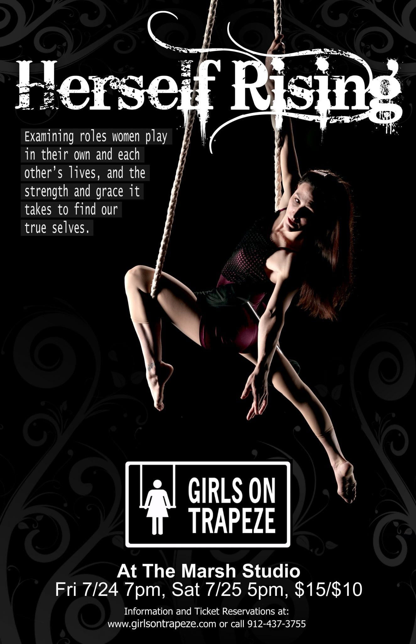 Girls On Trapeze at The Marsh Studio